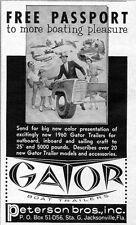 1960 Print Ad Gator Boat Trailers Peterson Bros Inc Jacksonville,FL