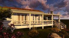 Tiny House Plans 1 Bedroom + DECK 400+ sf Site Built 1 Bath Home Plans CD ROM