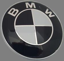 BMW EMBLEM 82 mm  SCHWARZ Motorhaube Heckklappe  E34 E36  E39 E46 E90 E60 usw