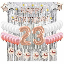 23rd Birthday Complete Rose Gold & Silver Balloon Party Decoration Supplies