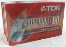 TDK Audio Cassette Lot of 4 - Superior D60 Normal Bias - New Old Stock