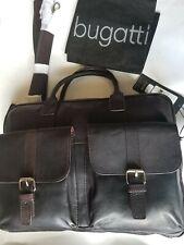 Bugatti BRISBANE Collection Business Bag Brown Leather NWT