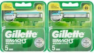 Gillette Mach3 Sensitive 10 Lamette. Prodotto Nuovo, Sigillato, Originale.
