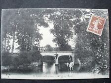 18 , bannegon ,le pont sur l'auron en 1913