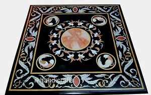 Vintage Art and Craft Sofa Table Top Marble Coffee Table Home Assents 24 Inches