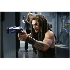 Stargate Atlantis Jason Momoa as Ronon Dex Aiming Gun 8 x 10 Inch Photo