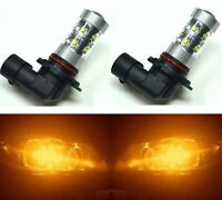 LED 50W 9005 HB3 Orange Amber Two Bulbs Head Light High Beam Replace Lamp