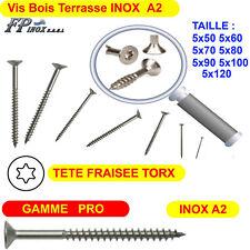Vis Terrasse INOX A2 Bois Torx GAMME PRO 5x30... 35 40 50 60 70 80 90 100 120