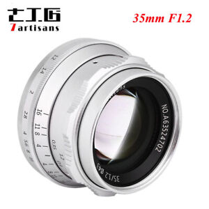 7artisans 35mm F1.2 APS-C Manual Focus Fixed Lens For Fuji FX Mount Sony E-Mount