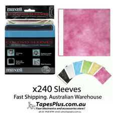 PREMIUM 240 x CD DVD Plastic Sleeves Covers Coloured Sleeve Holds 480 Discs