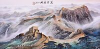 100% ORIGINAL ASIAN ART CHINESE FAMOUS SANSUI WATERCOLOR PAINTING-The Great Wall