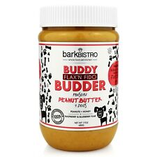 Bark Bistro Company, Flax'n Fido BUDDY BUDDER, 100% Natural Dog Peanut Butter