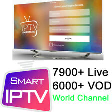 12 Month IP TV Smarters Pro Subscription Android Box Smart TV MAG STB M3U IOS