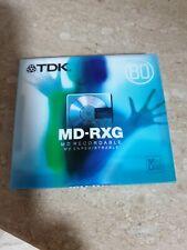 5 Stück TDK MD RXG 80EC MiniDisc Mini Disc Disk MiniDisk - 80 min. - NEU & OVP