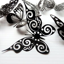 100 Pack Butterflies - Black - 5 to 6 cm - Topper, Weddings, Crafts, Cards,