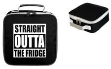 STRAIGHT OUTTA THE FRIDGE LUNCH BAG FUNNY OFFICE WORK CHRISTMAS GIFT FOOD COOLER