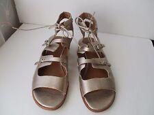Corso Como Tiki Women  Open Toe Leather Gold Gladiator Sandal Size 7.5 M