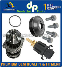 Water Pump & Gasket + Aluminum Pulley+Auxiliary Fan Switch+Bolts For BMW E46 E53