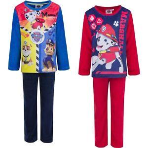 Paw Patrol Jungen Schlafanzug Schlafi Pyjama Kinder 98-116 Rot Blau NEU