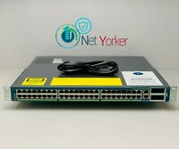 Cisco WS-C4948-10GE-S • 48 Port Gigabit +10GB Switch ■ COMES WITH DUAL POWER ■