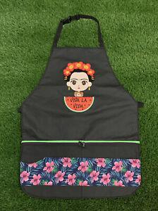 Frida Kahlo Apron Mandil Delantal One Pocket Unisex Unitalla One Size