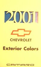 2001 Chevrolet Camaro Color Paint Chip Brochure