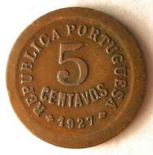 1927 Portugal 5 Moneda - Excelente Vintage - Envío Gratis - Ganga Bin #103