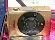 CANON IXUS IX240 GOLD   APS COLLECTORS CAMERA - NEW IN BOX COMPLETE -  VERY RARE