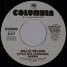 WILLIE NELSON: Little Old Fashioned Karma USA COLUMBIA Country DJ Promo 45 NM-