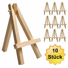 10x small mini table easel - visit card holder - wooden stairs