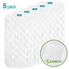 Infant Ultra Soft Bomboo Baby Diaper Changing Pad Cover Liner Waterproof 5 Pack