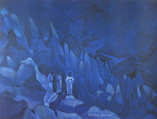 "28"" RELIGIOUS PRINT Burning the Darkness,1924 by N.Roerich MODERN MUSEUM ART"