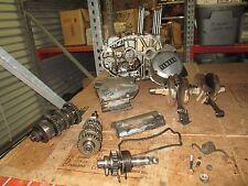 77 Yamaha XS360 Engine Cases Crankshaft Clutch Cover Magneto Cover Etc Parts Lot
