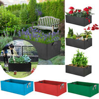 Fabric Raised Garden Bed Grow Bag Flower Vegetable Planter Pot Pocket Pouch