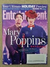 Mary Poppins Emily Blunt, Armie Hammer, Entertainment Weekly Magazine Nov 2018