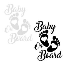 Creative Baby On Board Foot Heart Car Sticker PET Decal Waterproof 12*17cm