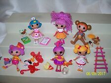 Lot Of 20 Mini Lalaloopsy Dolls & More Peanut Big Top Funhouse Rosy Sahara Spot