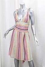 MISSONI Womens Casual Cream Multi-Color Striped Knit Knee-Length Sun Dress 40/4