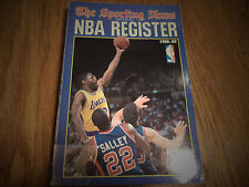 1988 - 1989 THE SPORTING NEWS OFFICIAL NBA REGISTER JAMES WORTHY