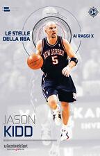 LIBRO BOOK N° 34 JASON KIDD LE STELLE DELLA NBA AI RAGGI X SACRAMENTO