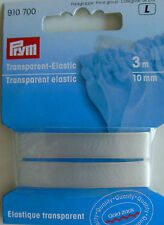 Gummi - Gold-Zack Transparent-Elastic Prym 910 700 3m/10mm