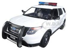 2015 FORD POLICE INTERCEPTOR UTILITY WHITE W/ LIGHTS & SOUND 1/24 MOTORMAX 79535