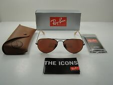 RAY-BAN AVIATOR SUNGLASSES RB3025 167/2K BRONZE-COPPER/RED MIRROR LENS 55MM
