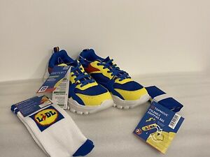 Lidl Trainers Rare Limited Fan Edition Trainers size EU 40 UK 6.5 + Socks & Bag