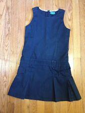Girls School Uniform NAVY BLUE Dress Jumper SIZE 12 Childrens Place sleeveless