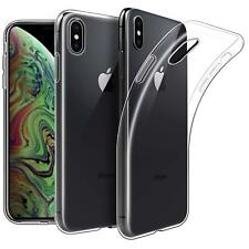 """For Apple iPhone XS (5.8"""") Case Clear Slim Gel Cover And Glass Screen Protector"""