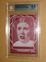BGS STAR WARS 2013 GALACTIC FILES CARRIE FISHER LEIA PRINT PLATE MOVIE CARD 1/1