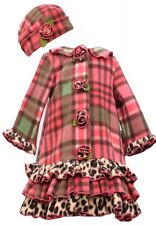 Traum Fleece-Mantel + Kappe von Bonnie Jean~Set~Mädchen 104,110,116