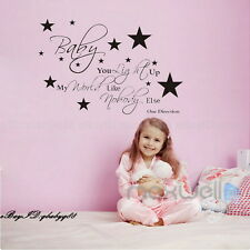 Baby Light Up My World Wall Quotes decals Removable sticker decor Vinyl kidsart