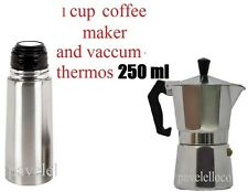 Stove Top Espresso Coffee Maker cuban 1 Cups Cafetera Cubana and Thermos 250 ml